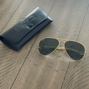 Ray-Ban Vintage Bausch & Lomb Aviator Sunglasses With Randolph Case